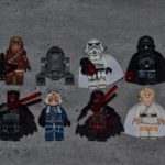 StarWars figurine : Lot 8 minifig figurine personnage STAR WARS neuf Dark Vador Maul Jedi Trooper.