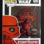 Figurine StarWars : Figurine Funko Pop - Vinyl - Star Wars  - 05 Stromtrooper Red - Exclusive - Neuf