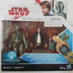 StarWars figurine : STAR WARS FIGURINES HAN SOLO & BOBA FETT SÉRIE FORCE LINK SOUS BLISTER