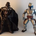 StarWars collection : Lot 2 figurines Star wars 2005 19cm Dark vador + jango fett