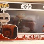 StarWars collection : Figurine  FUNKO POP - Star Wars - Rey on speeder rides  - RARE - Neuf - Boîte