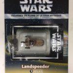 Figurine StarWars : star wars figurine en plomb landspeeder n34/60 neuve blister fascicule atlas