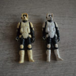 StarWars collection : 2x Star Wars Vintage Figure Figurine ROTJ - Stormtrooper Biker Scout - HK 1983