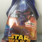 Figurine StarWars : Figurine Star Wars ROTS Toys R Us Exclu Holographic Yoda Neuf Sous Bulle NISB