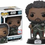 StarWars collection : Figurine  FUNKO POP Star Wars - Rogue One - Saw Gerrera NYCC 2017 Exclu - Boîte