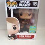Figurine StarWars : Figurine  FUNKO POP Star Wars Han Solo 115 Celebration SDCC Collector en boîte