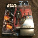 Figurine StarWars : Figurine Star Wars Rogue One Imperial ground crew armes Disney Hasbro Neuf
