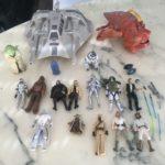 Figurine StarWars : GROS LOT STAR WARS FIGURINES JEUDI R2 D2 YODA DROID VAISSEAU SNOWSPEEDER MONSTRE