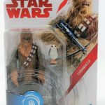 StarWars collection : Star Wars The Last Jedi Chewbacca avec Porg 9.5cm Figurine Articulée Force Lien