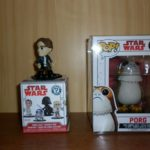 StarWars collection : Lot De 2 Figurines Star Wars - Funko Pop Porg N°198 + Mystery Mini Han Solo