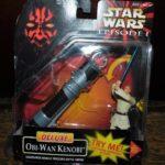 StarWars collection : STAR WARS HASBRO 1999 EPISODE 1 . DELUXE . OBI-WAN KENOBI . NEUF SOUS BLISTER