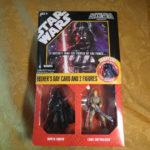 Figurine StarWars : Star Wars Father's Day Card And 2 Figurines Darth Vader & Luke Skywalker