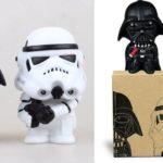 StarWars figurine : 2 Figurines Star Wars Darth Vader Stormtrooper PVC - Neuf dans boite d'origine