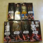 "StarWars collection : STAR WARS FIGURINES HASBRO DISNEY Figurines 12"" Dolls Lot of 8 NIB Sealed!"