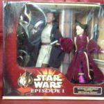 StarWars collection : Figurine QUI-GON JINN & QUEEN AMIDALA STAR WARS - HASBRO 2000 PORTRAIT EDITION