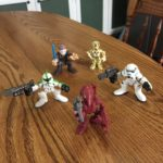 StarWars collection : Lot of 5 Hasbro Star Wars loose Figurines  Galactic Heroes Anakin Stormtroopers