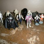 StarWars collection : lot figurines star wars darth vader dark vador han solo B E
