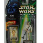 StarWars collection : Star Wars POTF Power of the force LUKE + blaster rifle & electronics binoculars
