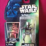 StarWars collection : Figurine Star Wars puissance Of The Force ASP-7 Droid Fluo C2 Kenner Sealed