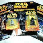 StarWars figurine : # lot 2 figurines + 3 fascicules star wars dark vador + r2d2 plomb peint atlas