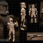 "StarWars collection : Star Wars Legacy Clone Trooper Phase I 3.75 "" Figurine"