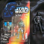 """StarWars collection : Star Wars Boba Fett Power of the Force Figurine And Darth Vader Figurine 4"""""""