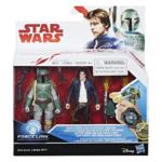 StarWars figurine : Han Solo & Boba Fett Star Wars Episode 8 10cm Forcelink Figurines 2er Pack