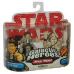 Figurine StarWars : Star Wars Galactic Heroes Han Solo & Logray Ensemble de Figurines