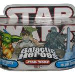 StarWars figurine : Star Wars Galactique Luke Skywalker / Yoda & Obi-Wan Hasbro