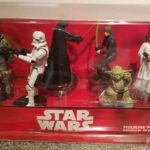 Figurine StarWars : Disney Store Star Wars 6 Piece Figurine Set Darth Vader Yoda Boba Fett Leia Luke