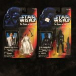 StarWars figurine : Lot Of 2 Figurines STAR WARS POWER OF THE FORCE PRINCESS LEIA &Tie Fighter Pilot