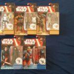 Figurine StarWars : Lot de 5 figurines Star Wars Hasbro Finn,Constable Zuvio,Nien Nunb,Kilo Ren