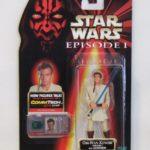 StarWars figurine : Hasbro Star Wars Épisode 1 Obi-Wan Kenobi Jedi Duel Sabre Laser Action Figurine