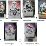 Figurine StarWars : Lot complet 6 x First order soldiers Star Wars 7 & 8 Force awaken Hot Toys 1/6