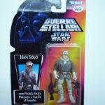 StarWars collection : Hasbro Star Wars Hist. Figurine Han Solo sur Hoth Ital. Carte Starwars de Jeu