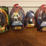 StarWars collection : 3 star wars figurines 1 Lord of the rings figurine VADER SKYWALKER SAM WISE