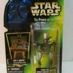Figurine StarWars : Star Wars Tpotf Asp-7 Droid Figurine Articulée avec Hologramme par Hasbro 1996