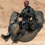 Figurine StarWars : S.H.Figurines Star Wars: Episode 1 Sith Speeder Figurine Articulée Premium