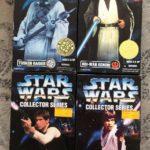 StarWars collection : KENNER STAR WARS COLLECTOR SERIES FIGURE LOT (4) OBI,LUKE,HAN SOLO, TUSKAN RAIDE