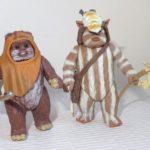 Figurine StarWars : STAR WARS - WICKET (Brown color) & LOGRAY - POTF -1998- Wave 1 - LOOSE PG