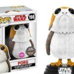 Figurine StarWars : Funko Pop Porg 198 Floqué Star Wars VIII 8 Figurine Disney Cinema Exclusive #2