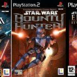 3x Playstation 2 Games CLASSIC BUNDLE GAMES - jeu StarWars