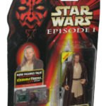 StarWars figurine : Star Wars Episode I The Phantom Menace Qui-Gon Jinn Naboo Figurine W/ Commtech