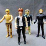 Figurine StarWars : Lot of 4 Vintage Star Wars Collectible Action Figurines Luke, Han Solo......