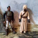 StarWars collection : Figurine Star Wars Homme des sables et Lando Calrissian