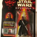 StarWars collection : Hasbro Star Wars Episode 1 Darth Maul Jedi Duel Talking Comm Tech Chip Figurine