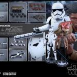 Figurine StarWars : Hot Toys Star Wars Finn & Riot Contrôle Stormtrooper Figurine Set 1/6 Echelle