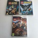 X 3 NINTENDO WII : LEGO BATMAN LOTR & - jeu StarWars