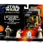 StarWars figurine : Star Wars Die Cast Metal Collectibles - C-3PO, R2-D2 ,Leia & Obi-Wan 4-Pack