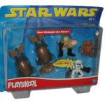 Figurine StarWars : Star Wars Playskool Galactic Heroes Rapide Thru Forêt Figurine Set - (Wicket